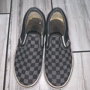 Black & Grey Checkered Slip On Vans
